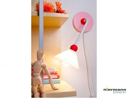 Wand-Leseleuchte sehr biegsam Flexrohr Schnurschalter, PRINZESSIN Baby Wandlampe