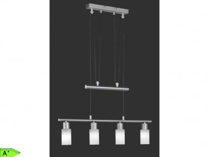 Hängelampe höhenverstellbar, Nickel matt / Glas weiß, Trio-Leuchten