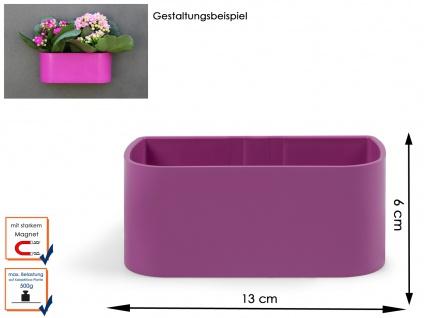 Kunststofftopf mit Magnet, Breite 12 cm, Wandaufbewahrung Wanddeko, KalaMitica