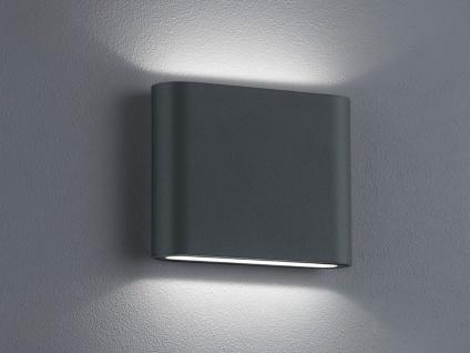 Trio LED Wandleuchte Uplight Downlight THAMES anthrazit, Wandlampe außen innen