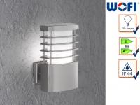 Wandleuchte / Außenleuchte in Edelstahl H. 23cm E27 Fassadenbeleuchtung Haus