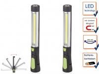 LED Multifunktionsarbeitsleuchten Taschenlampen mit Magnet, Stablampen Werkstatt