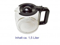 DOMO Glaskanne, Ersatzkanne für die Kaffeemaschinen DO477KT DO478KT DO479KT