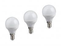 Nicht dimmbares E27 LED Leuchtmittel 3er SET warmweiß 5W & 400lm, tropfenförmig