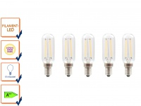 5er-Set FILAMENT-LED E14, 2 Watt, 200 Lumen, 2700 Kelvin, warmweiß