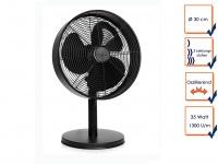 Tischventilator oszillierend 3-stufig Ø30cm 1300 U/m Tischlüfter tragbar Klima