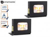 2 LED Mehrzwecklampen Akku als Powerbank nutztbar Magnet IP44 Handlampe Strahler