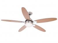 Deckenlampe, Ventilator mit LED Licht & Zugschalter 2 Flügelfarben Buche/graphit