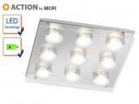 9-flammige LED Deckenleuchte, 23, 5 x 32, 5 cm, LED Deckenlampen Deckenleuchten