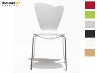 Design Stuhl HEART in weiß, Stapelstuhl Esszimmerstuhl Bistrostuhl Schalenstuhl