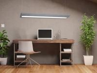 DESIGN Pendelleuchte eckig METALL OPTIK Halogen Deckenlampe lang Büroleuchten