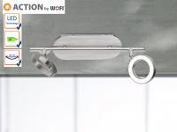 LED Deckenstrahler Nickel matt, Spots schwenkbar, Action by Wofi