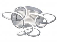 Raffinierte Deckenleuchte LED Blattsilber-Optik 39W - Designerleuchten Esszimmer