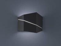 Designer Wandstrahler up&down in schwarz matt 18x14, 5x6, 5cm, Schlafzimmerleuchte