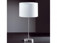 Tischleuchte, Nickel matt, Stoffschirm weiß, Honsel-Leuchten, LOFT