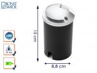 LED Bodeneinbaustrahler Bodenleuchte Ø 8, 8 cm, 200Lm IP65 belastbar bis 500kg