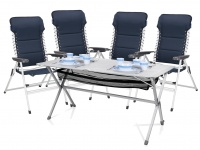 5tlg. Sitzgruppe Essgruppe für Garten & Camping Tisch 115x70x75cm