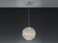 LED Pendelleuchte Ø40cm mit Geflecht Lampenschirm - Pendellampe fürs Wohnzimmer