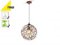 Trio Kugel Pendelleuchte JACOB 40cm Design Kupfer antik, Hängeleuchte modern