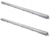 2er Set wasserfeste LED Deckenleuchten für Beleuchtung Keller, Garage, Hobbyraum