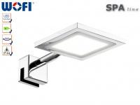 LED Spiegelleuchte zum Klemmen, Chrom, Wofi-Leuchten
