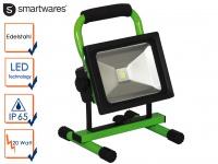 20 Watt LED Baustrahler tragbar mit Akku IP65, Fluter Arbeitsscheinwerfer