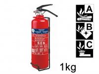 Handlicher Pulverlöscher Feuerlöscher 1kg, Brandklasse A, B, C
