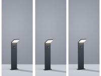 3 x LED Gartenbeleuchtung aus ALU in anthrazit mit Bewegungsmelder, IP54 H50cm