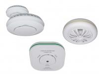 Sicherheitsset: 2 Funkvernetzte Rauchmelder + Hitzemelder + Kohlenmonoxidmelder