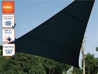 Sonnensegel Dreieck Dunkelgrau 5, 6 m², Sonnenschutz für Terrasse, Terrassensegel