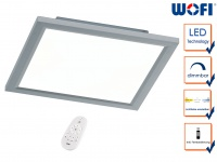 Flache LED Deckenleucthe 30x30 cm Fernbedienung für Dimmer & Farbtemperatur