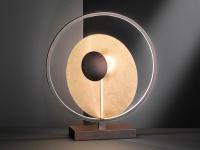 Design LED Nachttischleuchte 25 Watt Antik-Braun/Gold Höhe 46cm - Dekoleuchten