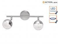 LED Deckenleuchte Strahler schwenkbar 2x 4, 5W Nickel matt Beleuchtung Wohnzimmer
