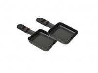 2er-Set Ersatzpfännchen Raclette-Pfännchen eckig für DOMO DO9039