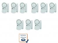 Mini Türalarm Fensteralarm im 9-er Pack 85dB Türsirenen Minisirene Alarmmelder