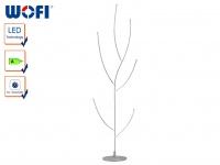 LED Standleuchte JANSSEN, Nickel matt, Höhe 131, 5cm, Standlampe Stehleuchte