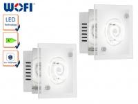 2er Set LED Wandleuchte TYRA, Chorm, Wandlampe Wandleuchte LED Designerlampe