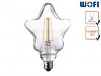 FILAMENT LED Leuchtmittel Sternform 4 Watt, 300 Lumen, 1800 Kelvin, E27-Sockel