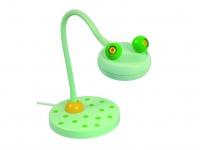 Leseleuchte grün Schreibtischlampe für Kinderzimmer Flexrohr lustiger FROSCH