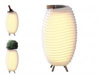 LED Stehleuchte SYNERGY 35 mit Bluetooth-Lautsprecher & 1.3l Weinkühler, Ø24 cm