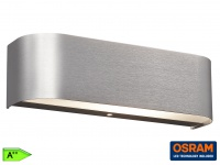 TRIO LED Wandleuchte, ink. 2 x 3, 2W OSRAM-LED, Aluminium gebürstet
