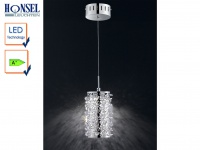 Honsel Design LED Pendelleuchte GLOSSY Acrylglas Kristalle, Hängeleuchte