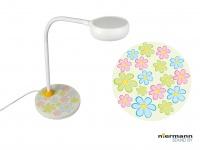 Tischlampe Kinderzimmer mit Flexrohr BUNTE BLUMEN Kinder Tisch Leselampe *NEU*