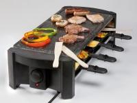 Raclette mit poliertem Naturstein, 8 Personen, Raclette Grill Tischgrill