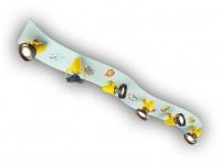 Strahlerleiste XXL 115cm WILDE TIERE 6 Spots schwenkbar Beleuchtung Kinderzimmer