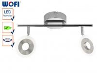 2-flammige LED Deckenlampe, Spots drehbar, LED Deckenbalken Deckenleuchten Spot