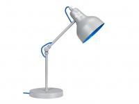 LIEF! Schreibtischleuchte fürs Jugendzimmer, Metall grau/blau, TIES
