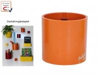 Kunststofftopf mit Magnet Ø 10cm, Orange, Wandaufbewahrung Wanddeko, KalaMitica
