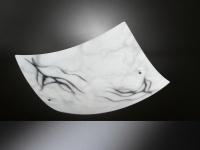Deckenleuchte MARBLE, Marmoriert, Länge x Breite 30 cm, Honsel-Leuchten