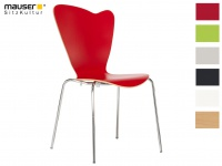 Design Stuhl HEART in rot, Stapelstuhl Esszimmerstuhl Bistrostuhl Schalenstuhl